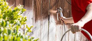 We can restain your old fence and make it look new again!