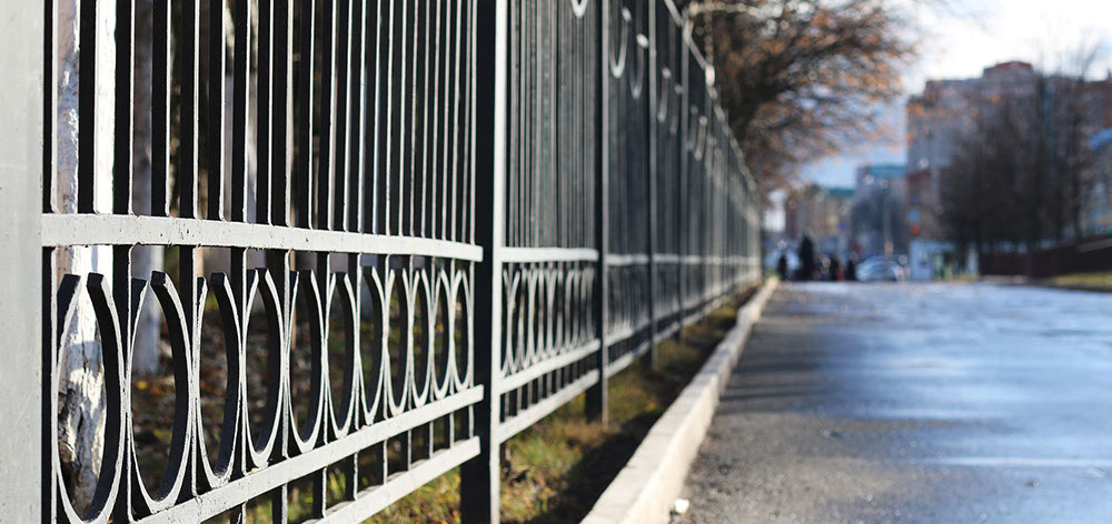the strongest metal fences are cast iron
