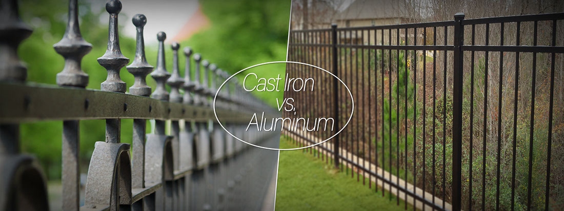 Which metal fence is best for your? Cast iron, Aluminum, or Steel.