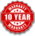We offer a 10 year warranty on all new fences we build!